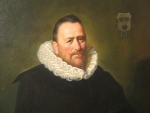 Frans Hals - Nicolaes Woutersz van der meer 50x70 close up
